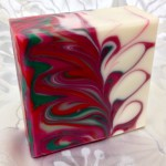 rosemary peppermint striped mantra marble soap