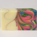 fizzy rainbow striped marble mantra swirl