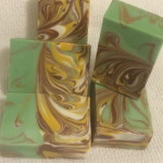 sunflower mantra marble soap