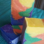 rainbow shimmy soap