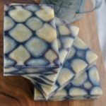 calendula checkered dancing funnel soap