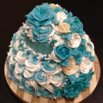 cascading rose cake