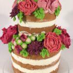 floral soap wedding cake