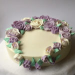 champagne roses cake