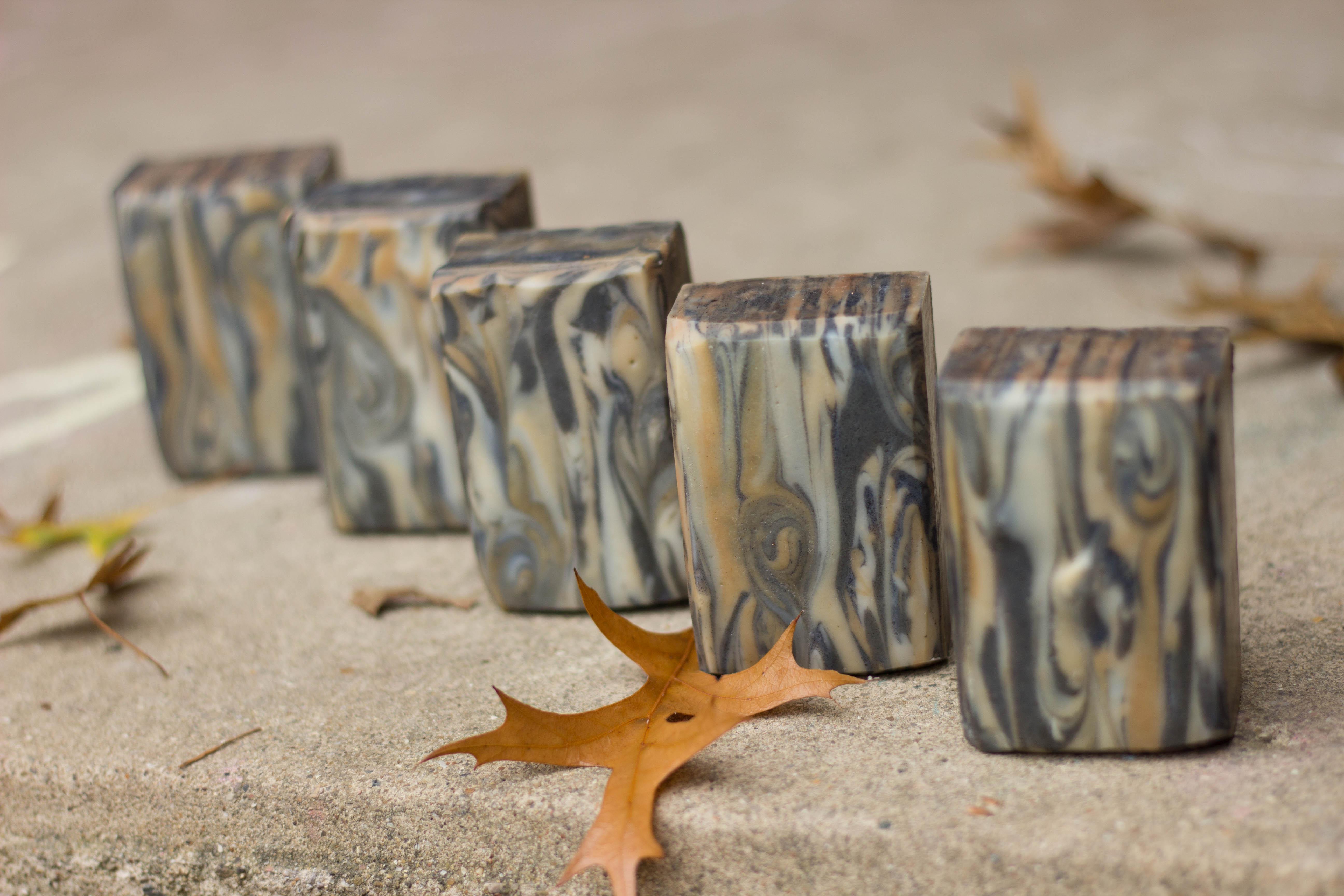 sandalwood wood grain soap