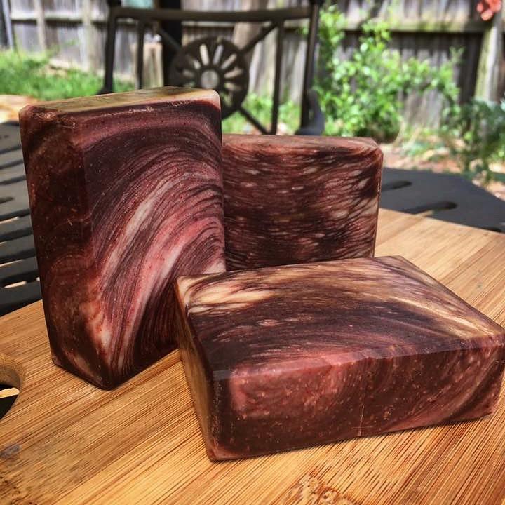 patchouli wood grain soap