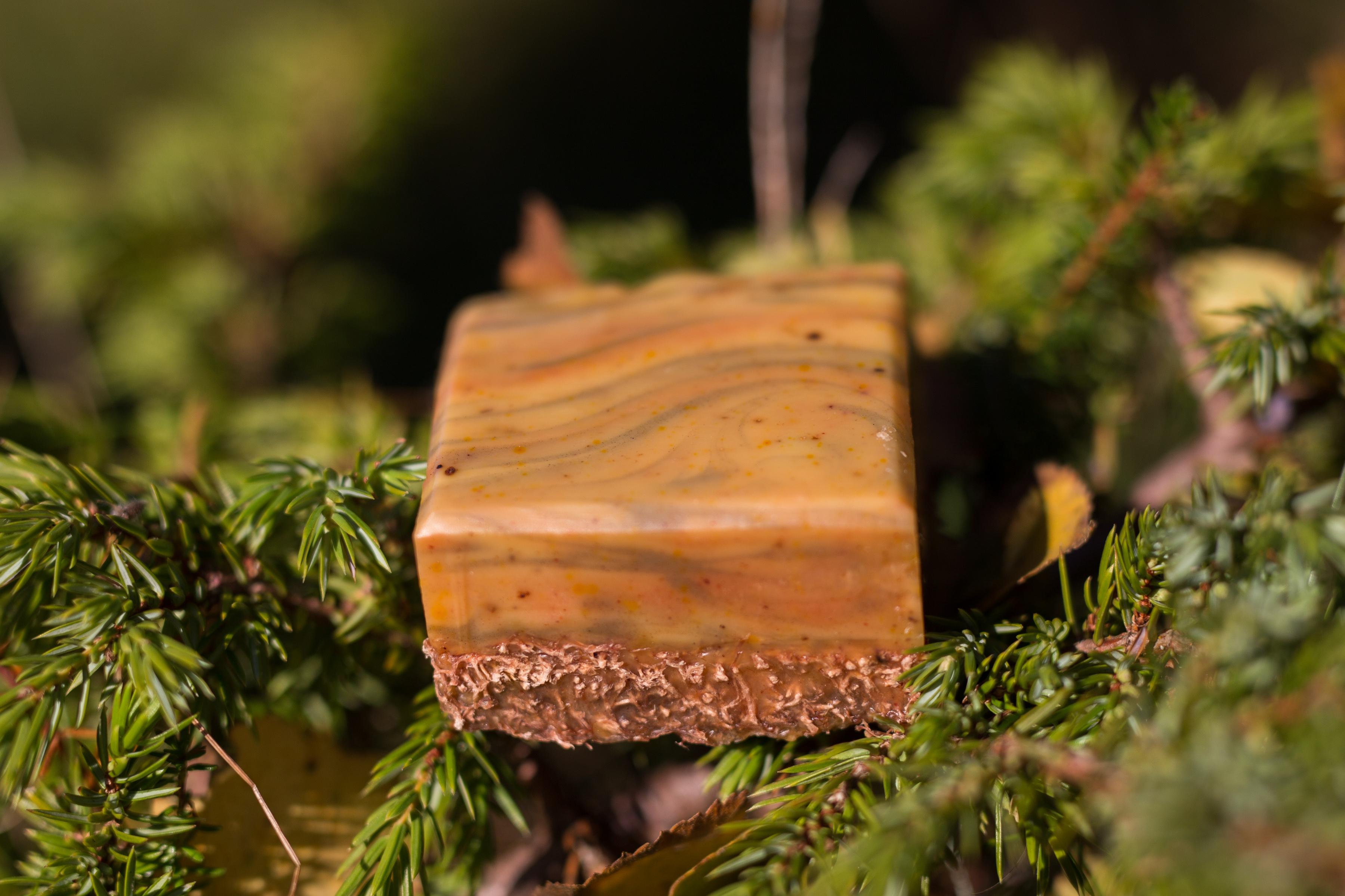 scrubby wood grain soap
