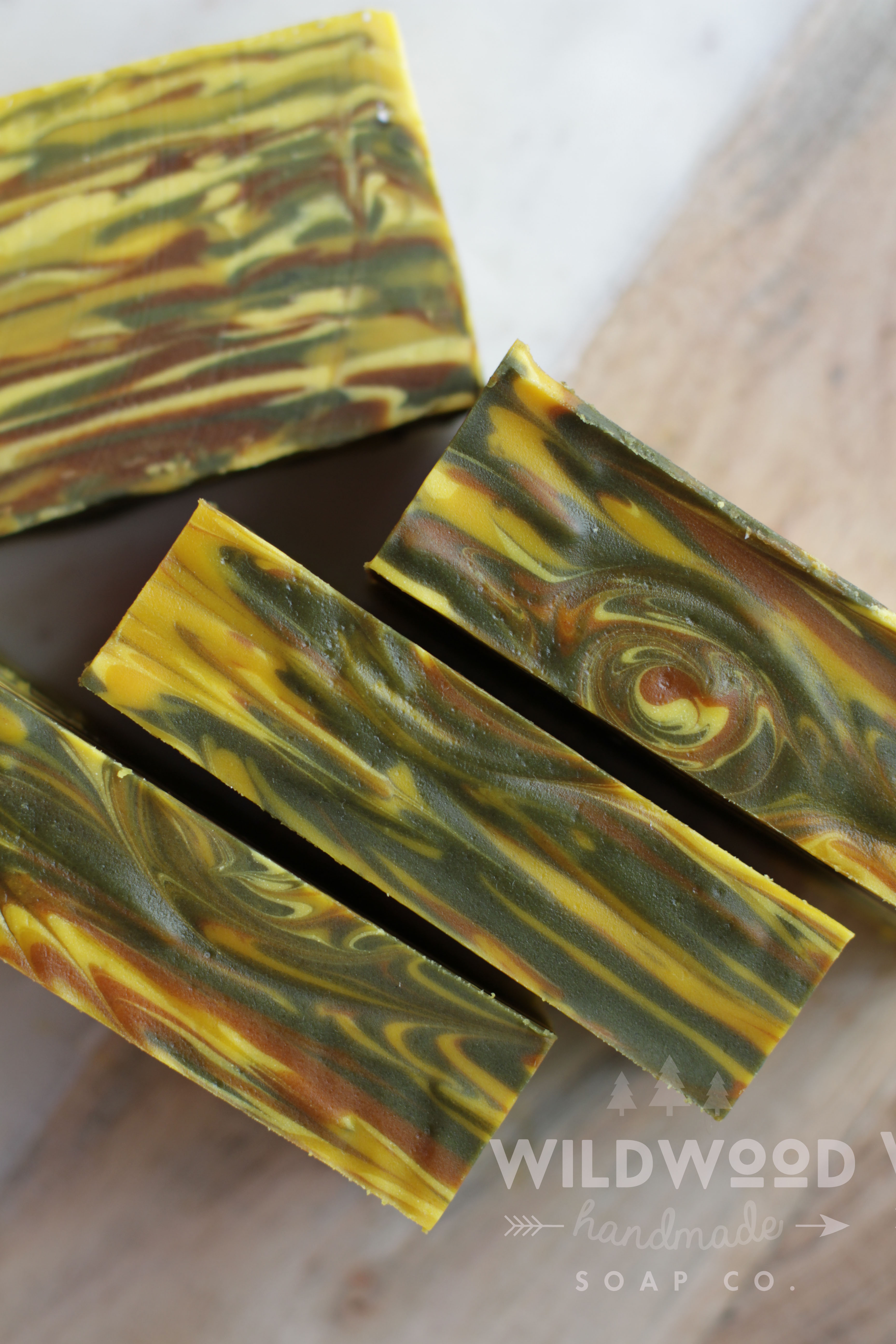 mango wood grain cold process soap
