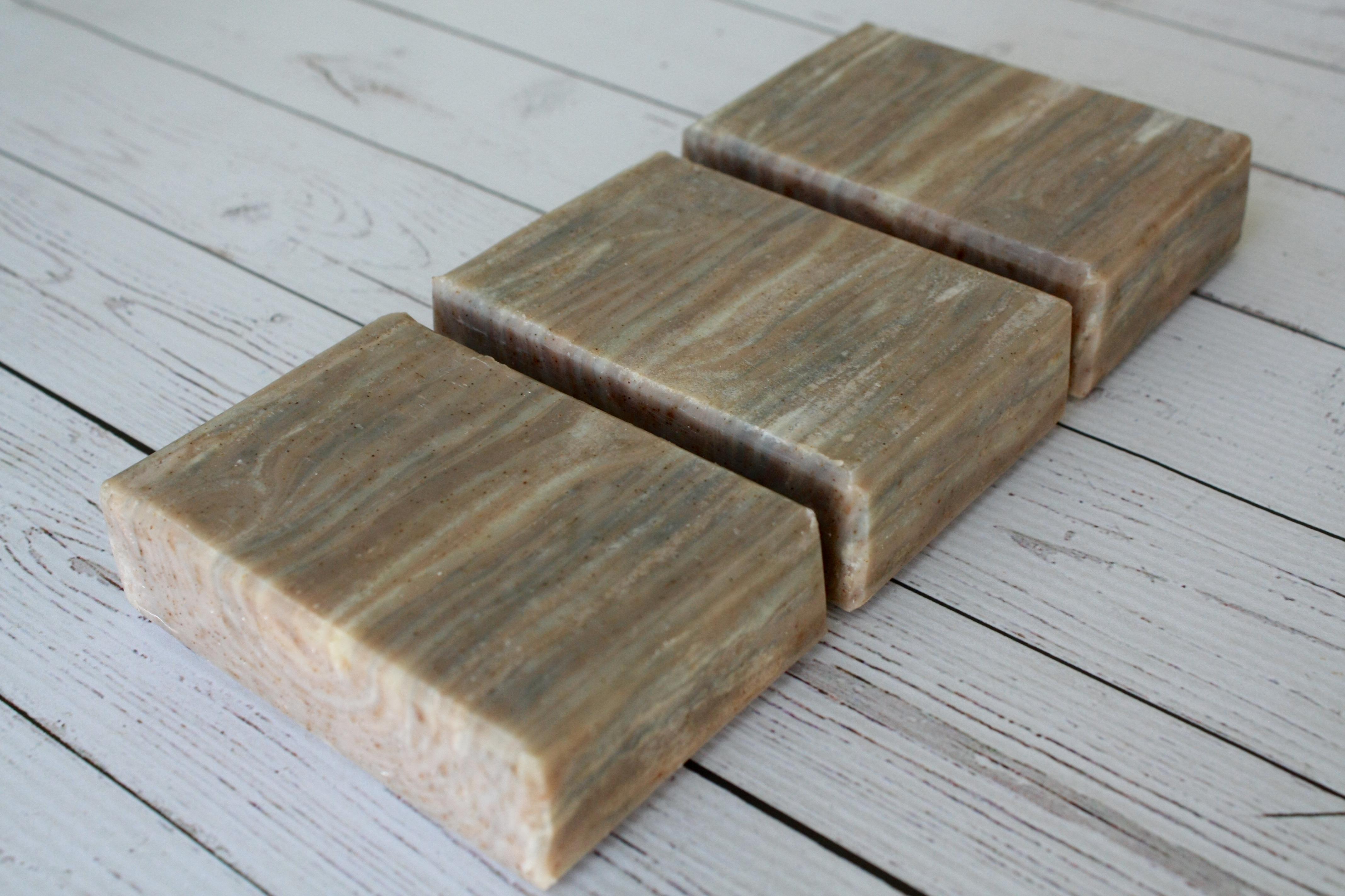 worn ash wood soap