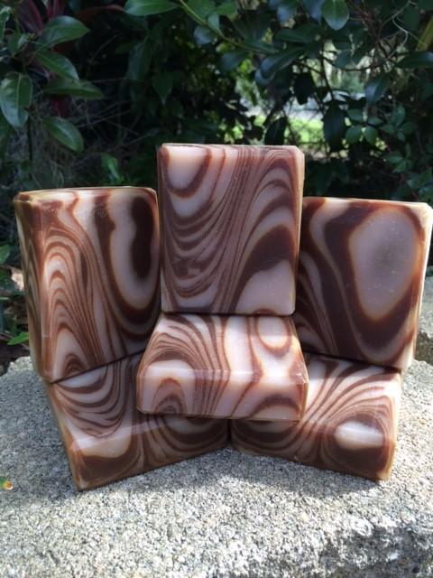 sandalwood patchouli wood grain soap