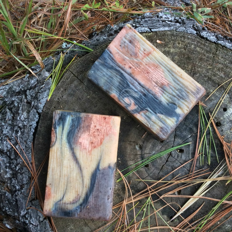 spalted wood grain soap