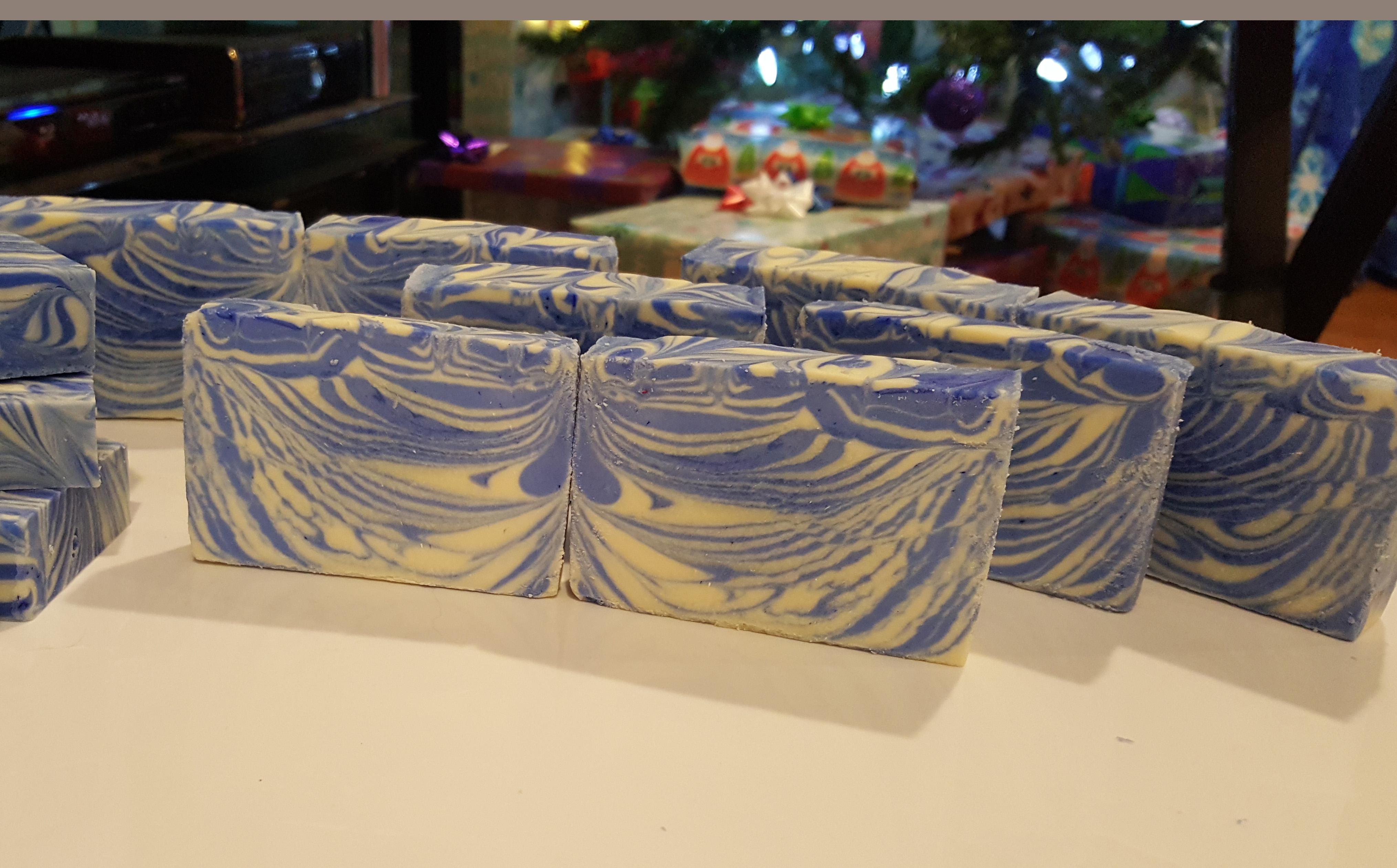 blueberry jam tiger stripe soap