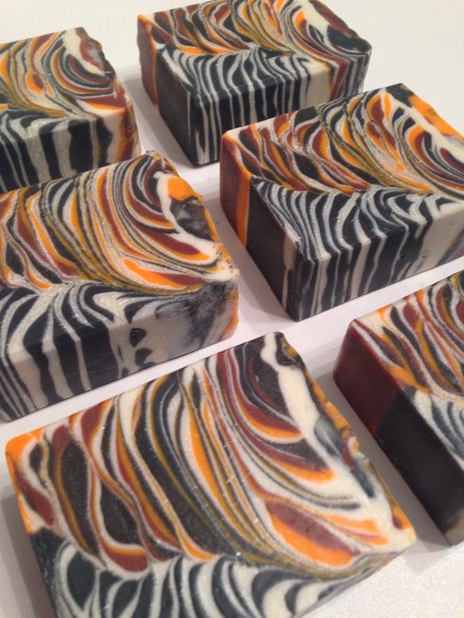 orange spiced tea tiger soap