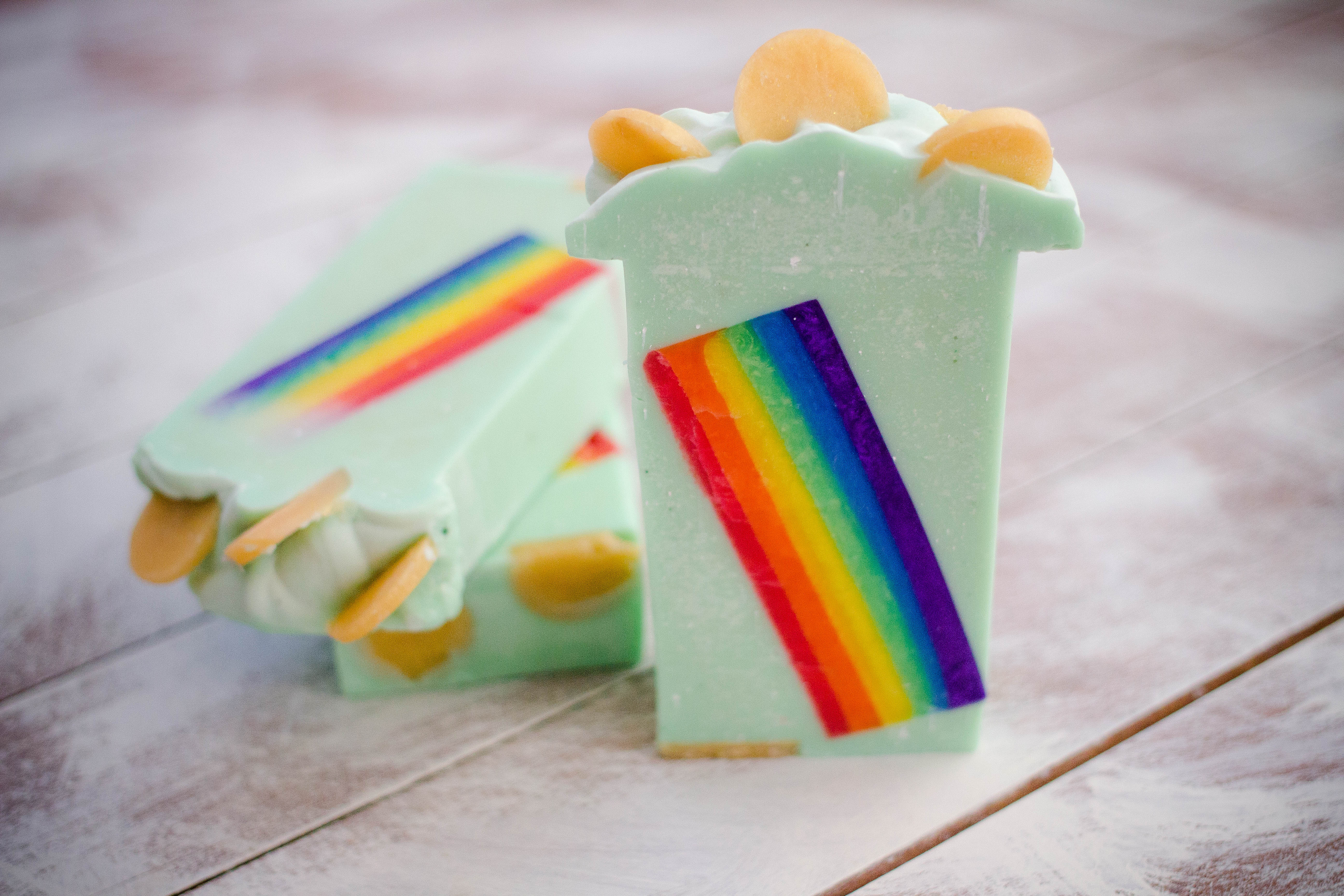 over the rainbow cold process mp soap