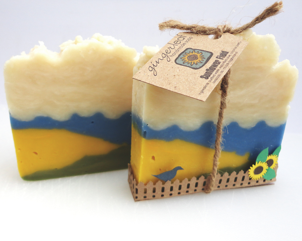 sunflower field soap