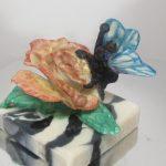 rose butterfly soap dough