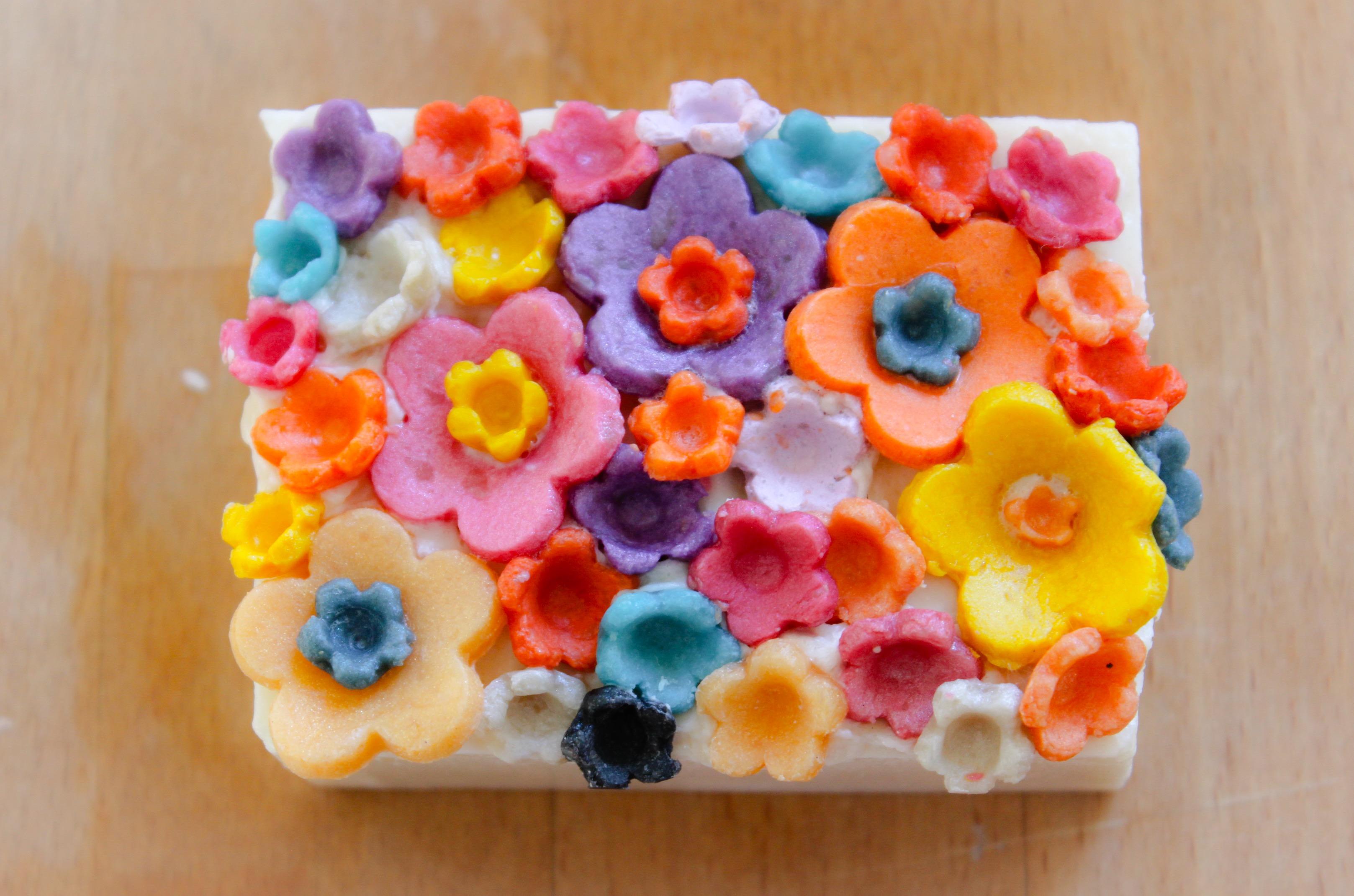 soap dough flowers