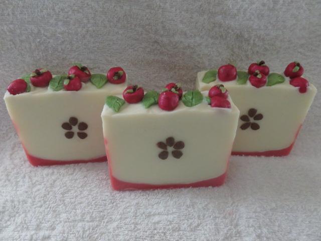 fresh red apple soap