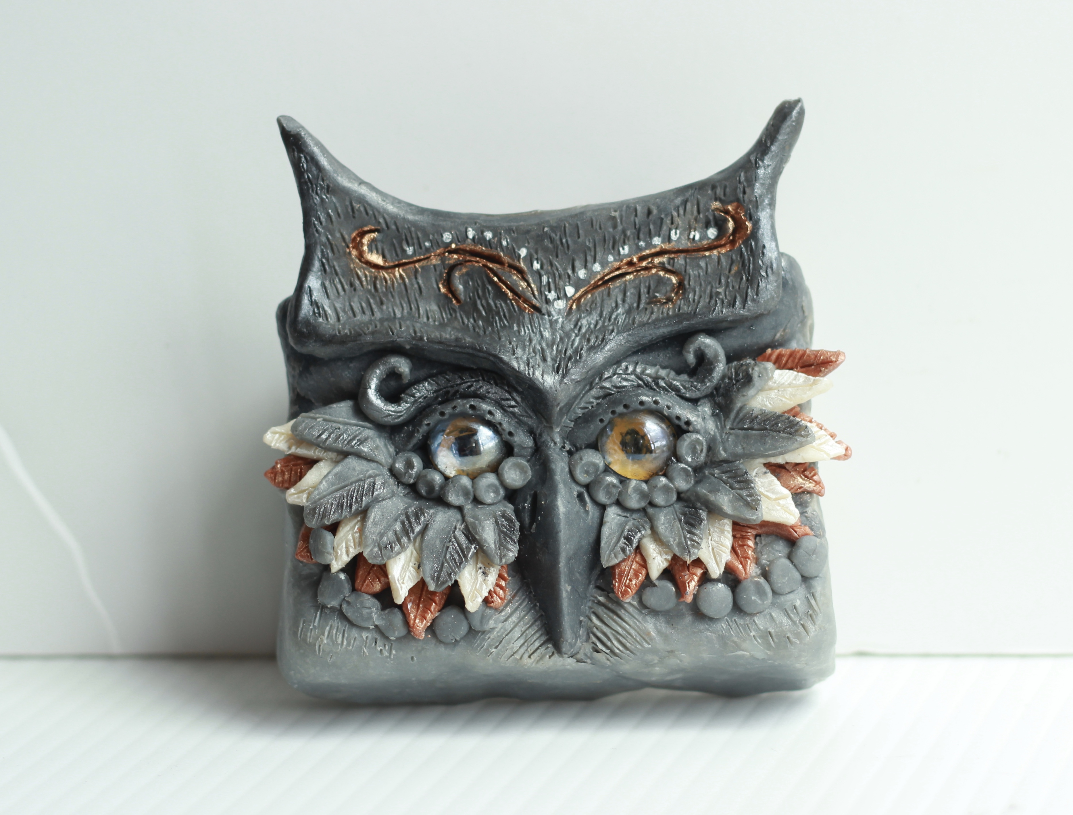 owl of soap clay
