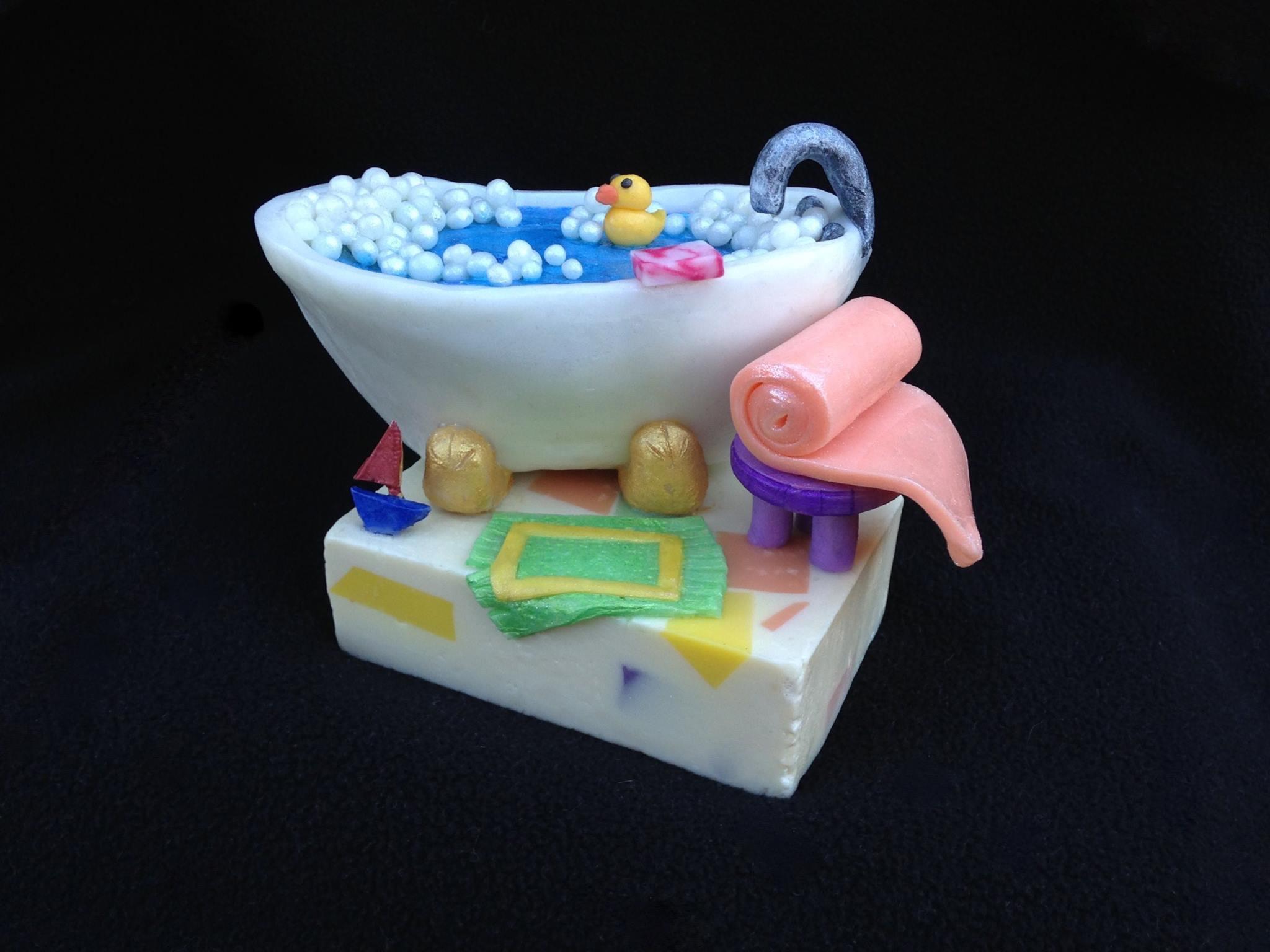 bathtime fun with rubber ducky