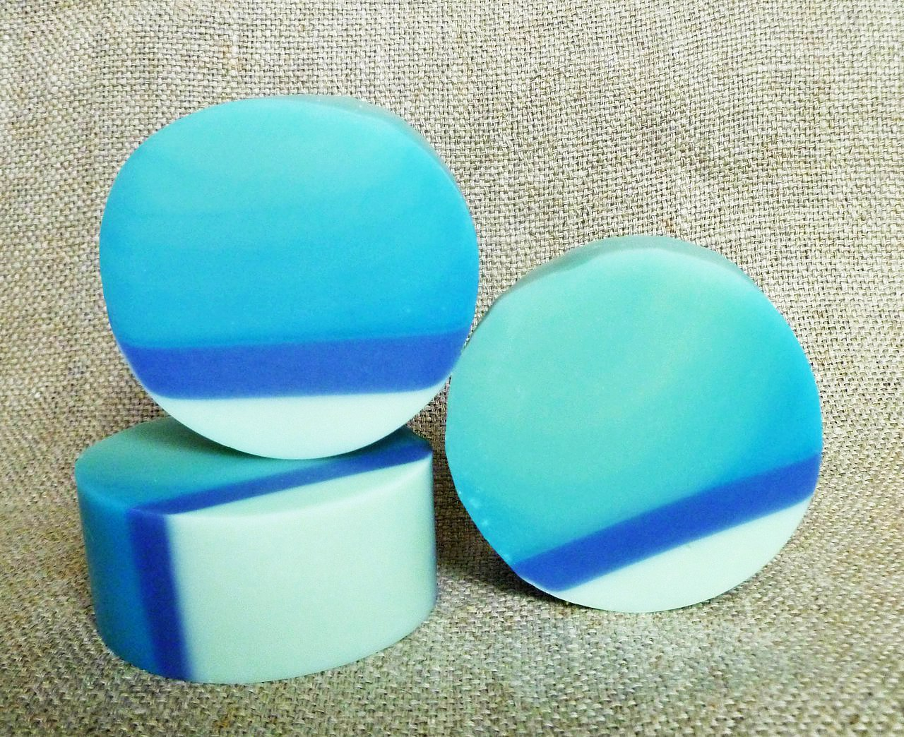 natural handmade soap blue bird