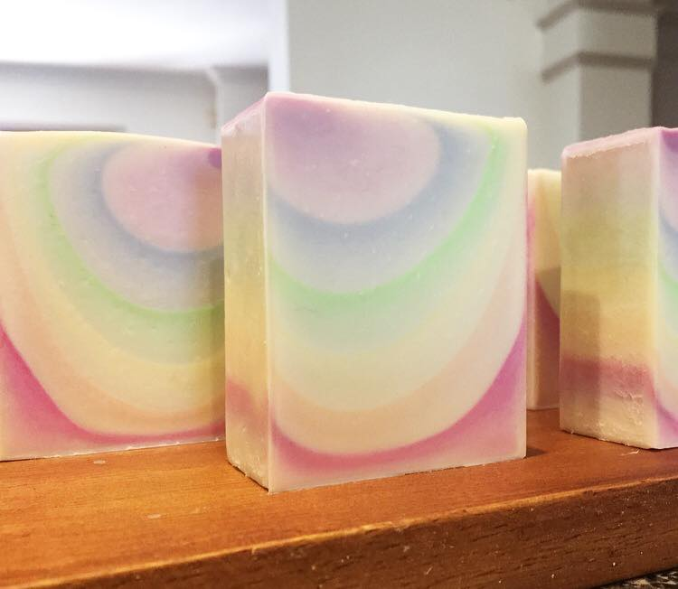 rainbow gradient ombre soap