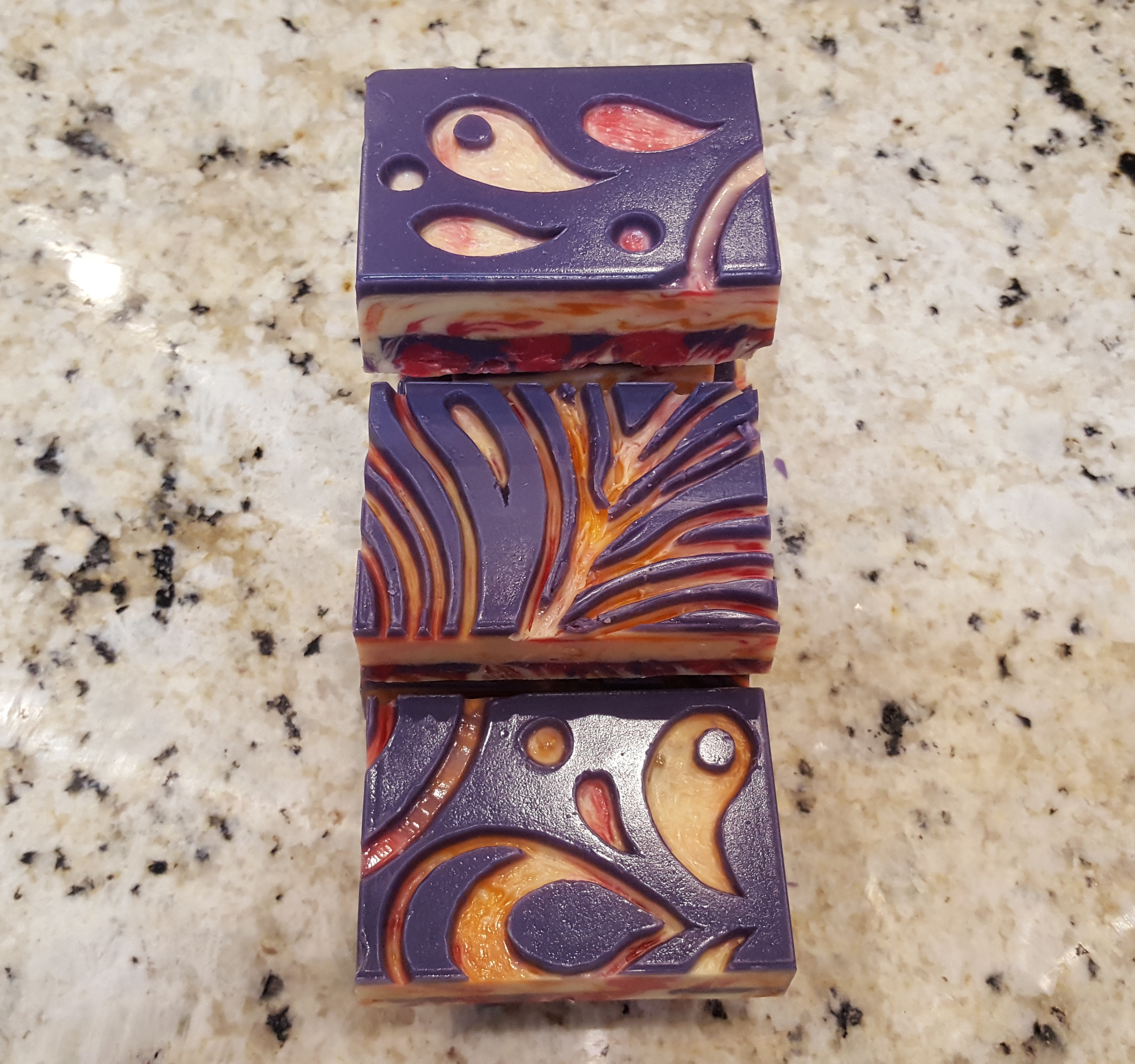quilt blossoms carved soap
