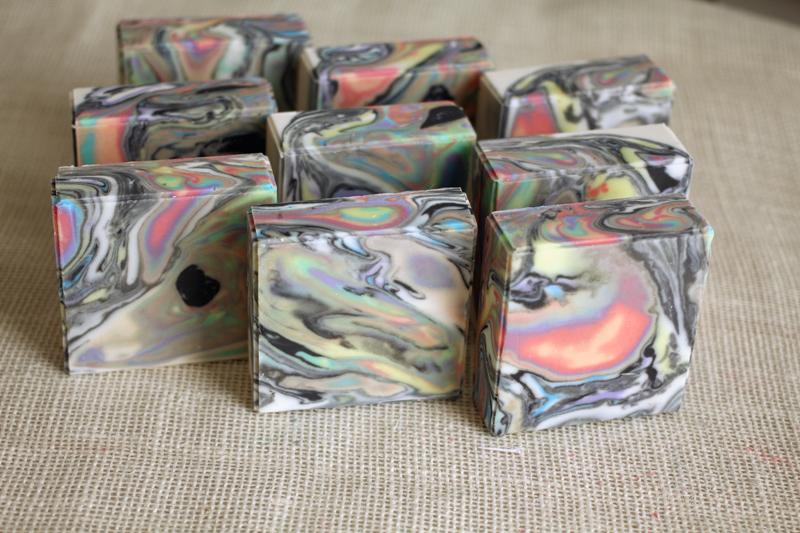 rainbow zebra soap