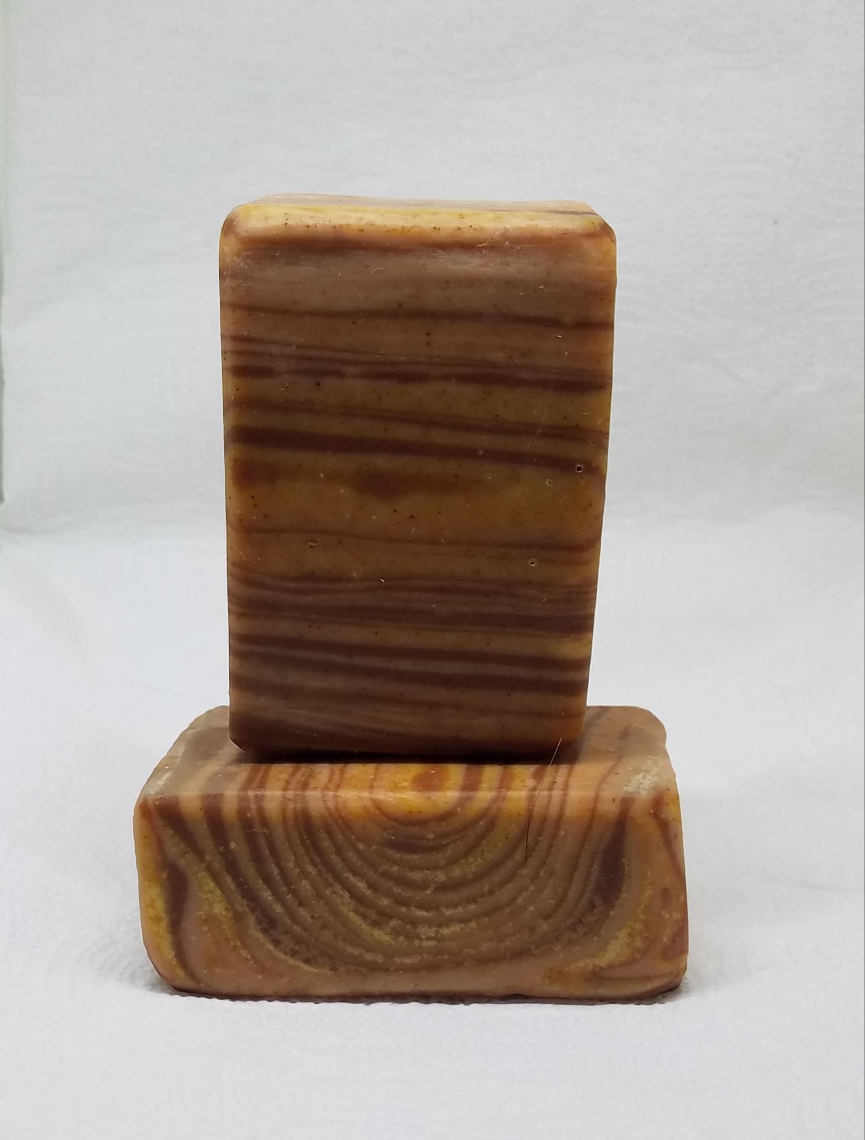 mahogany and teak wood grain goat s milk soap