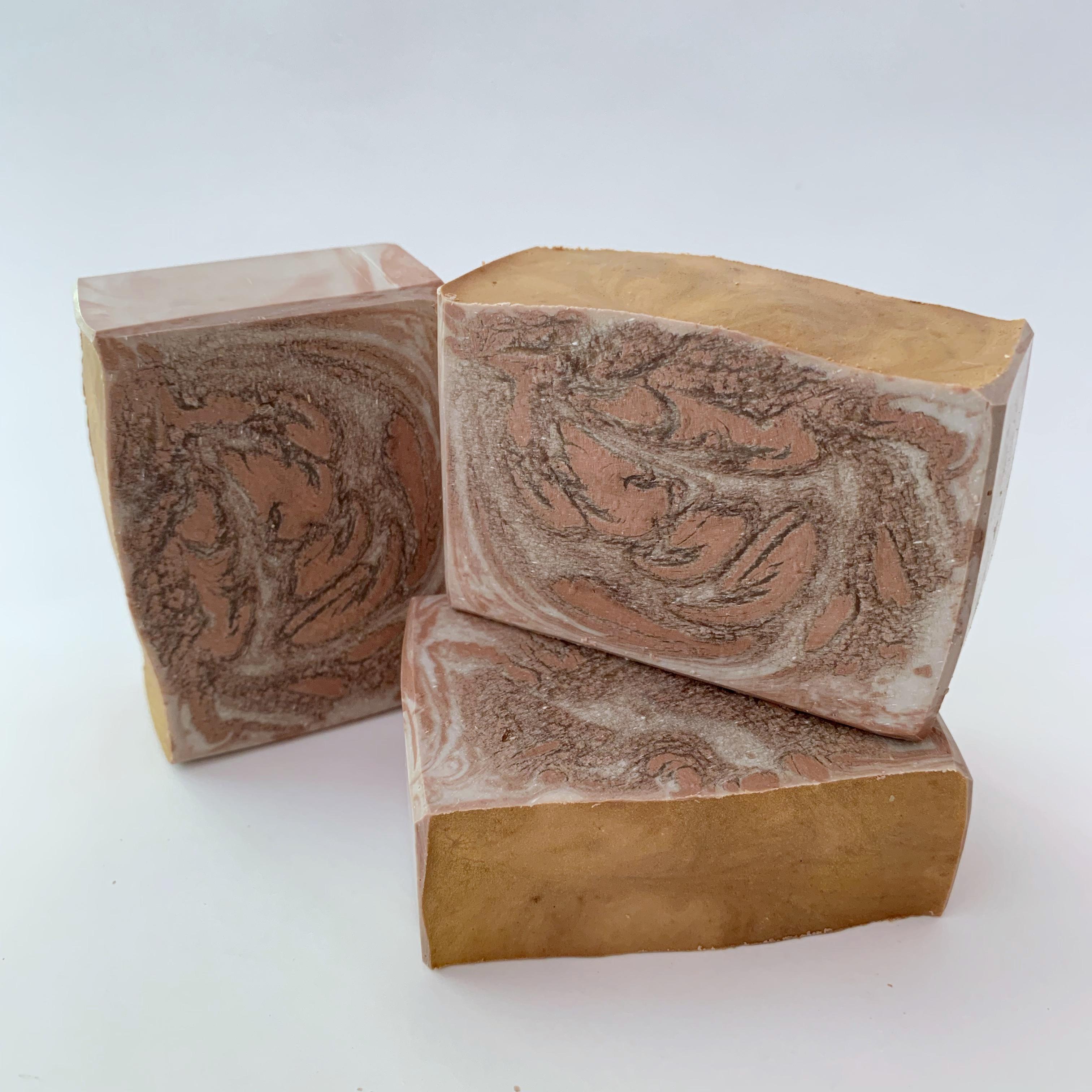 caramel swirl soap