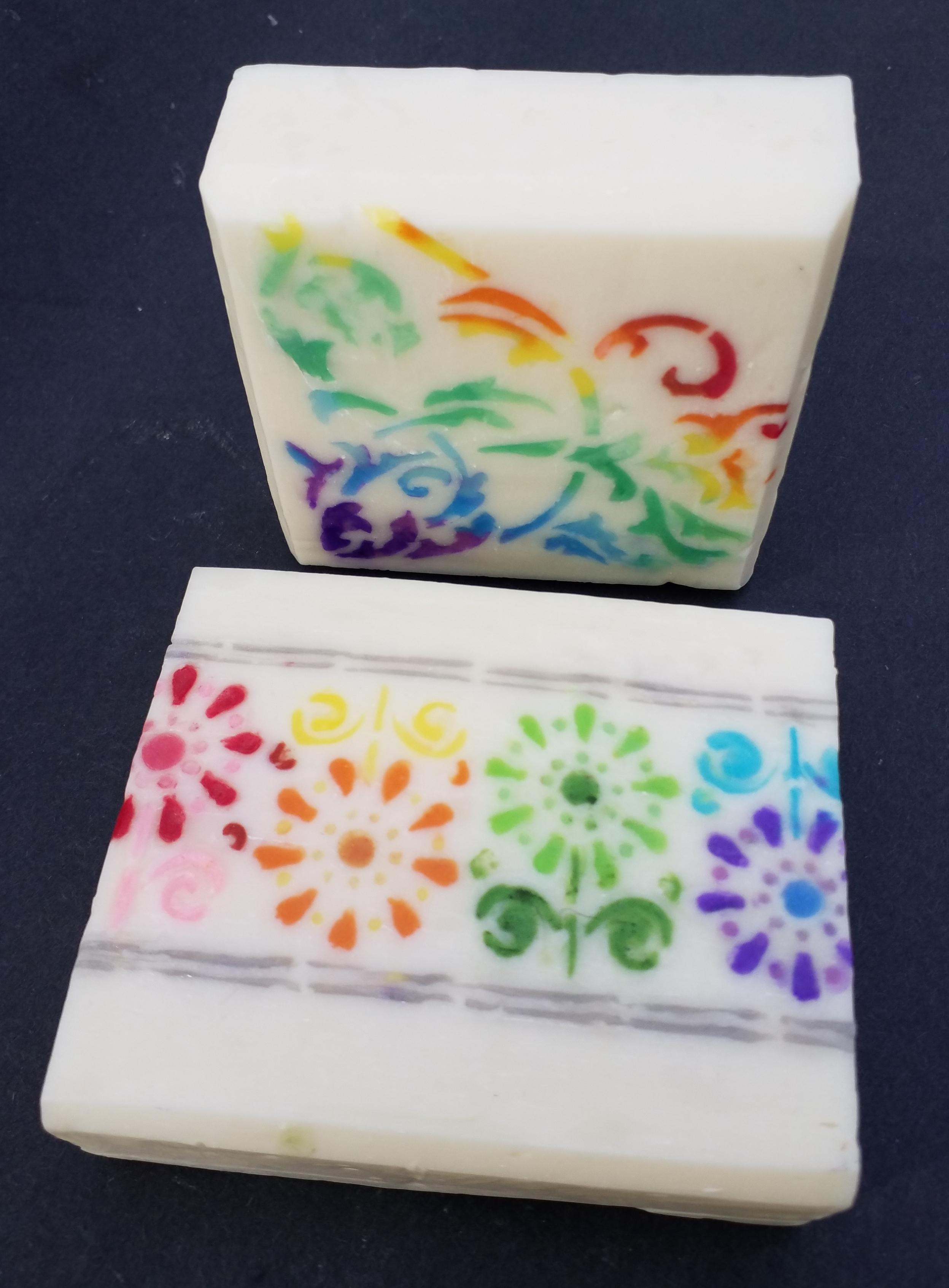 rainbow stencils