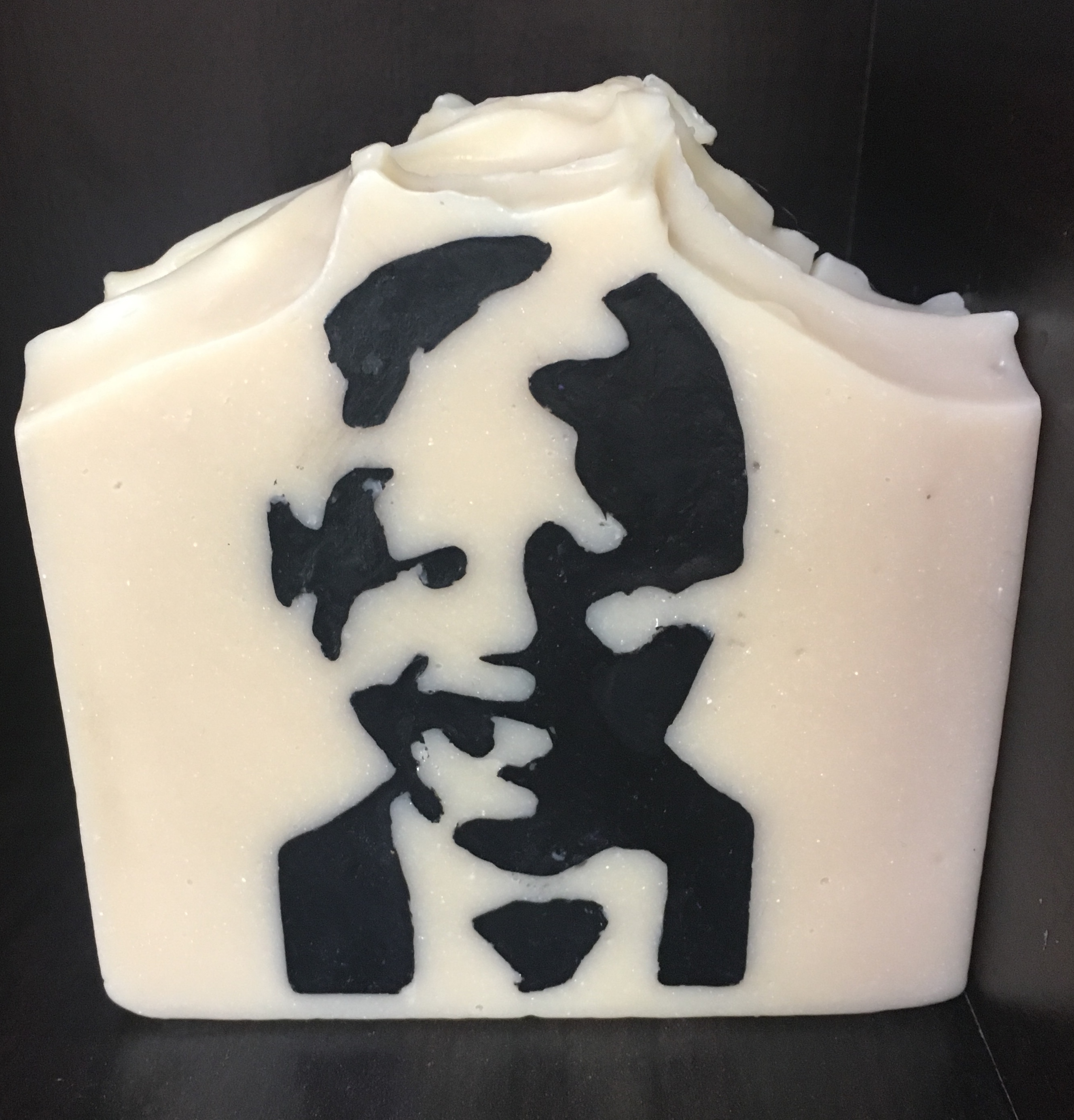 nelson mandela inlaid soap