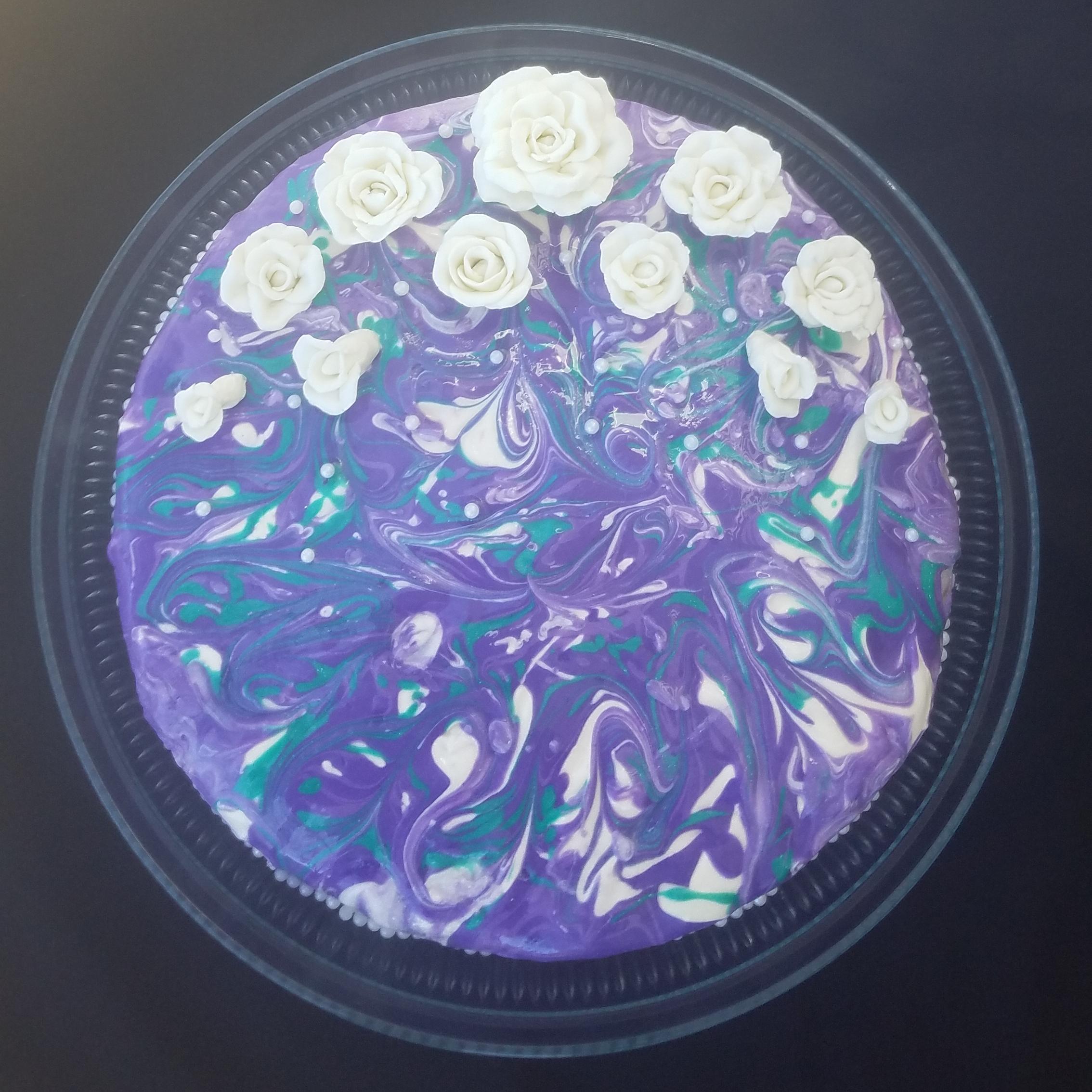 caramel lavender cheesecake