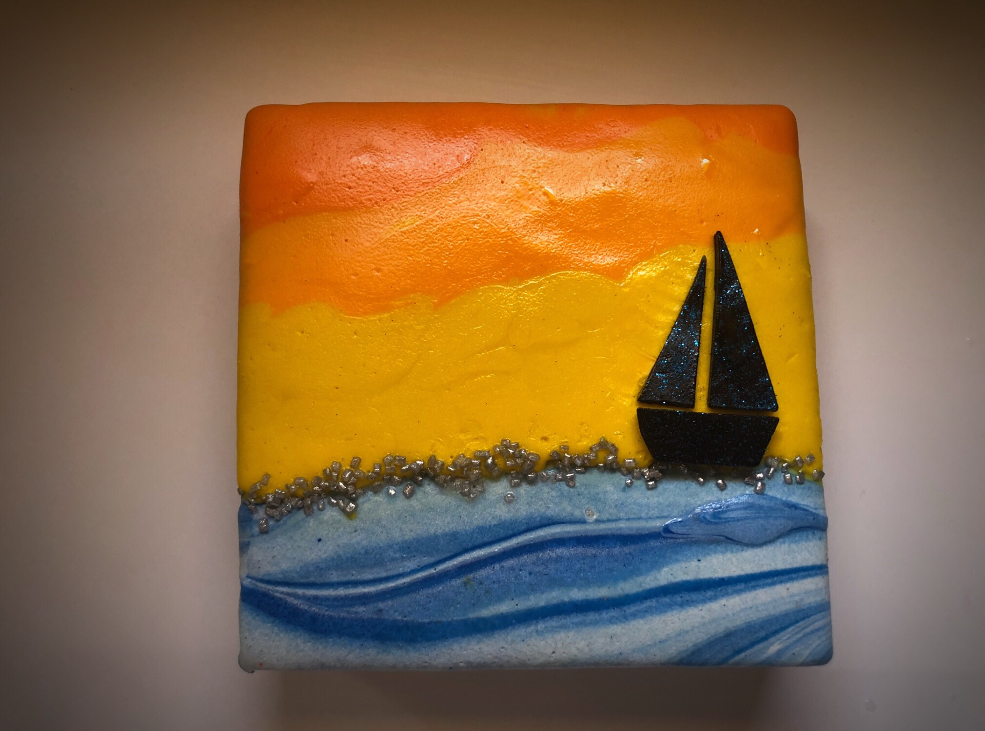 sailing boat soap canvas