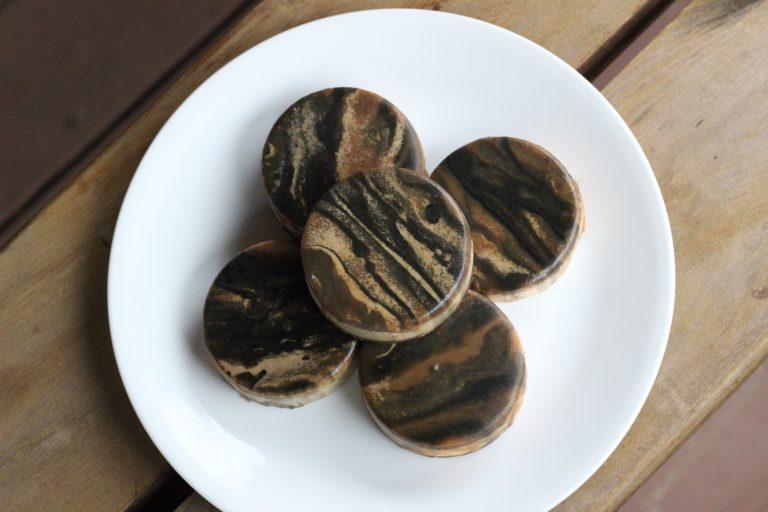 cocoa charcoal glazed soap