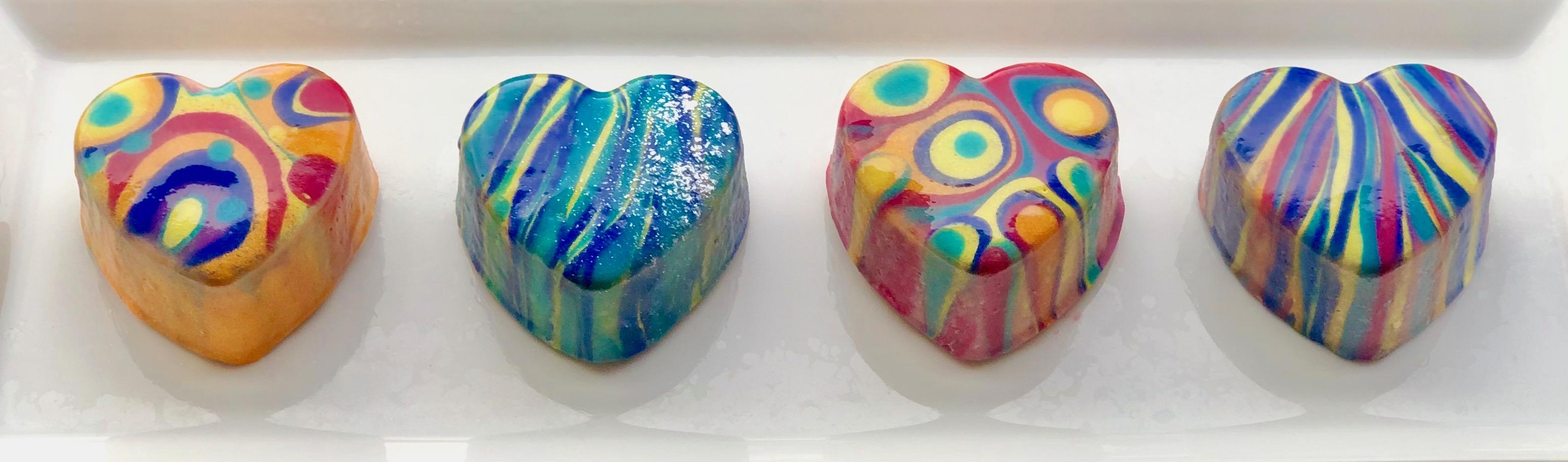 vibrant heart soap