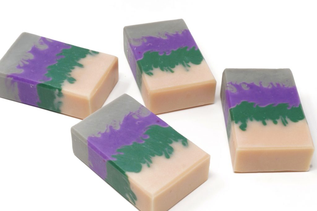 peony pointy layers soap