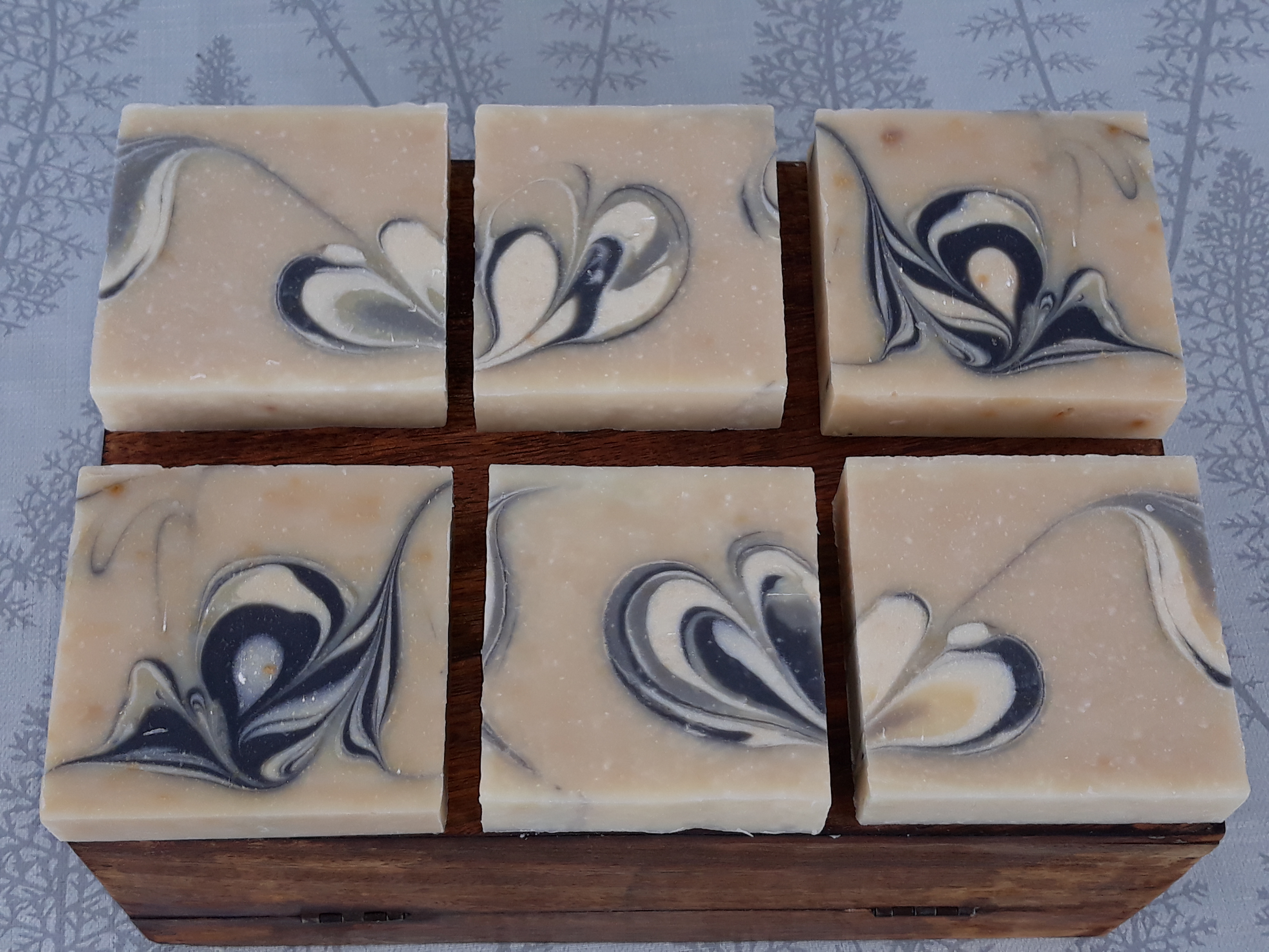 black and white soap