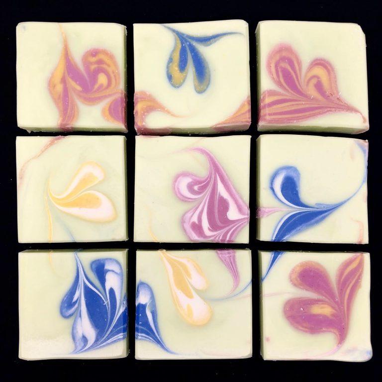 edamame flowers soap