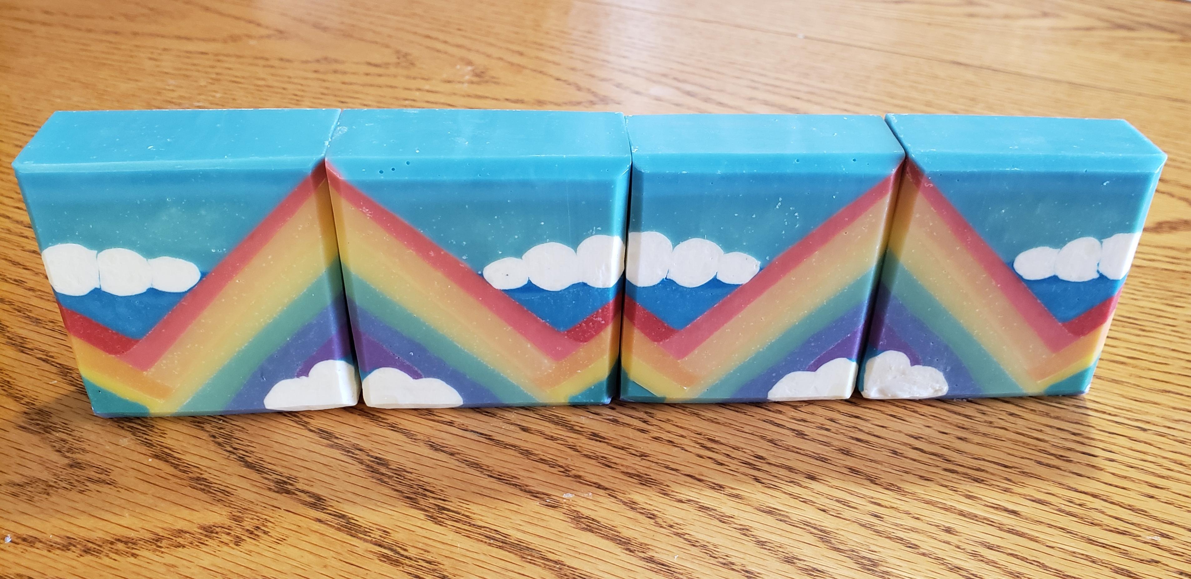 bouncing rainbows