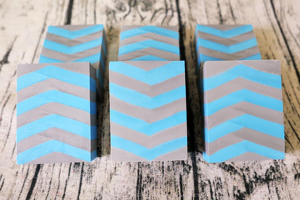 blue and gray chevron