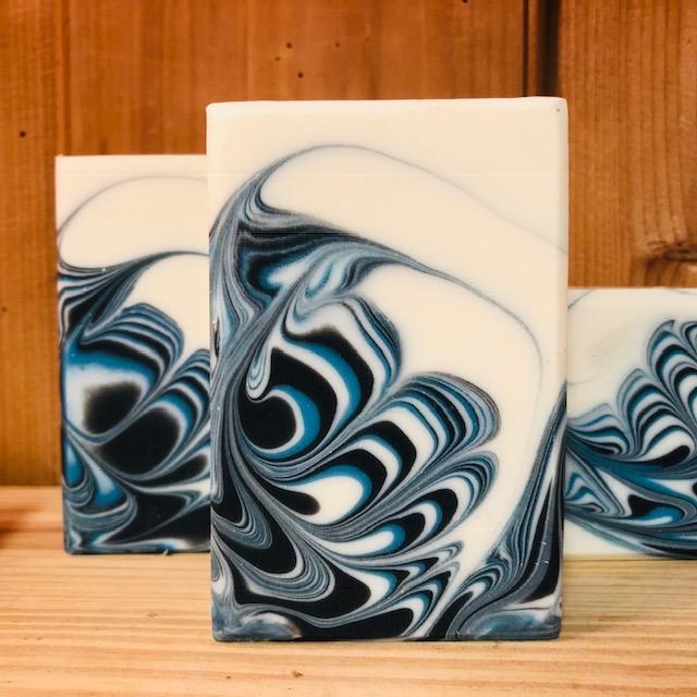 black blue waves
