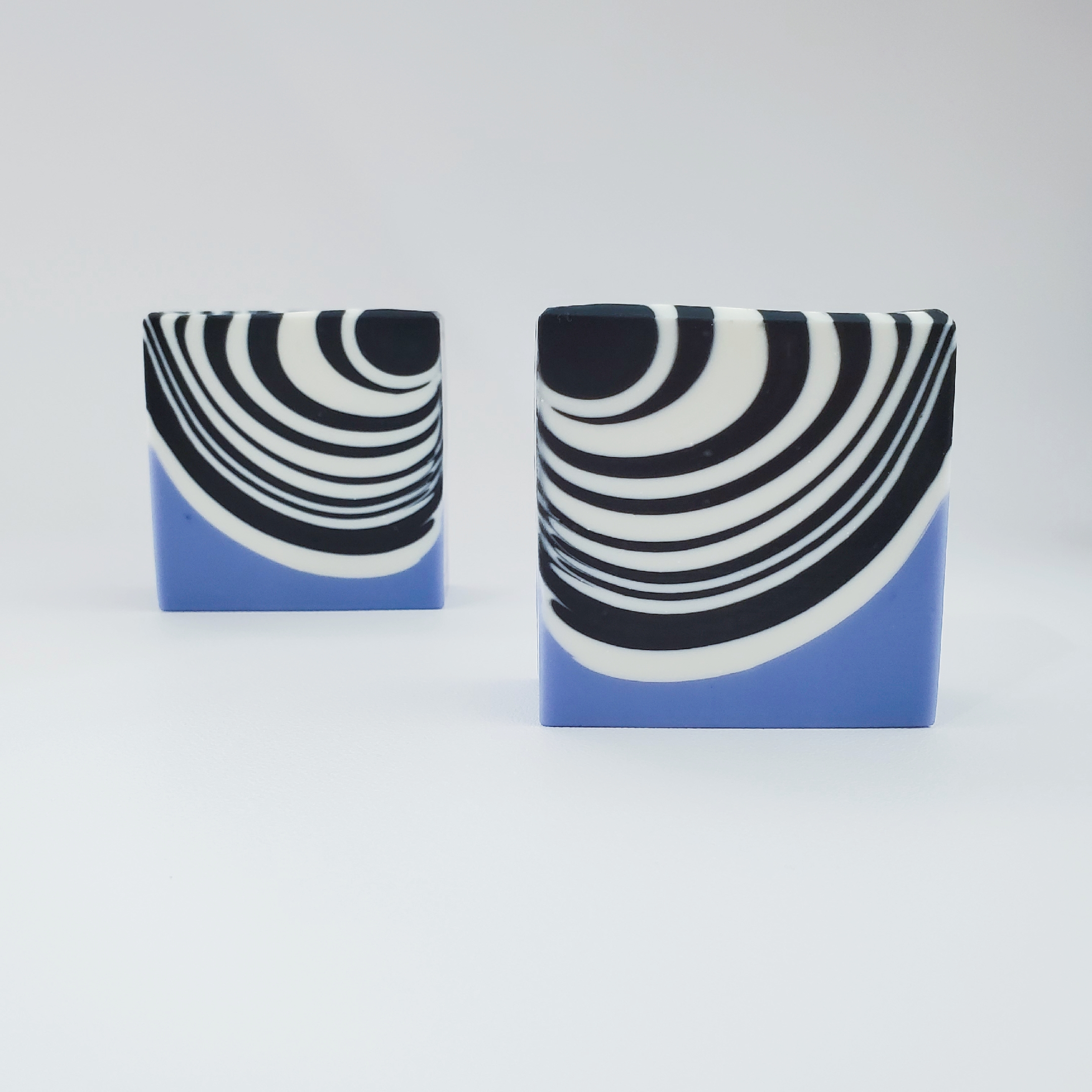 classic zebra soap with lavender purple