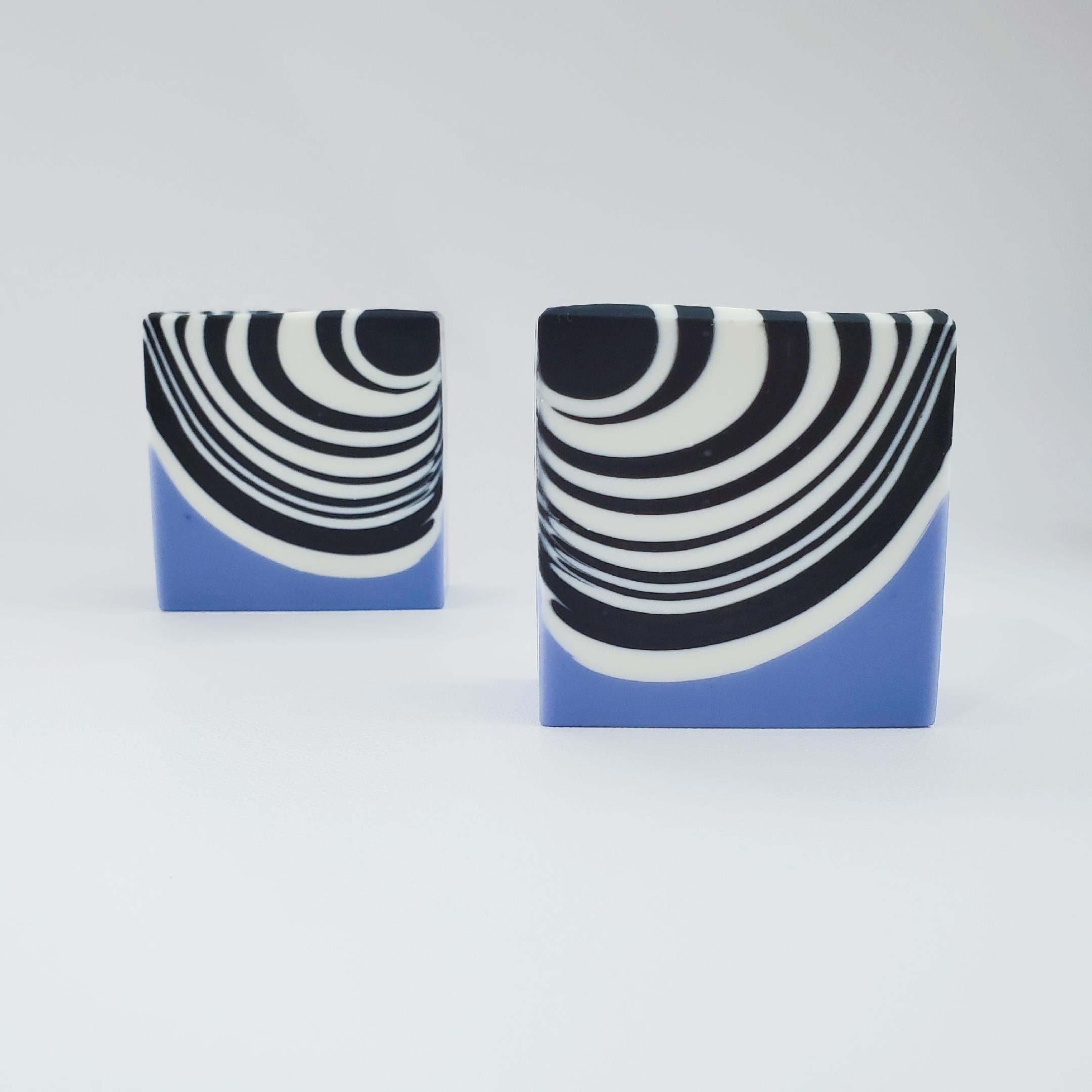 classic zebra soap with lavender purple