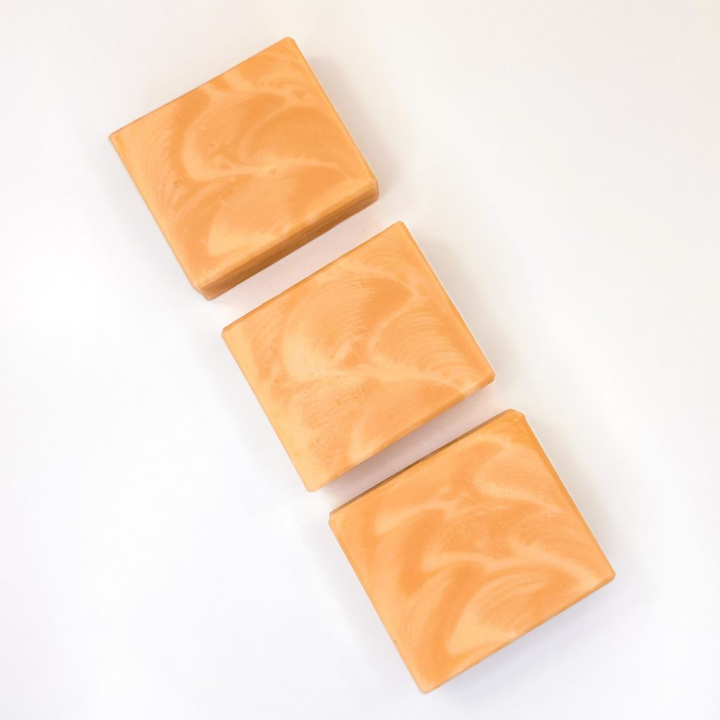 peach bubbles soap