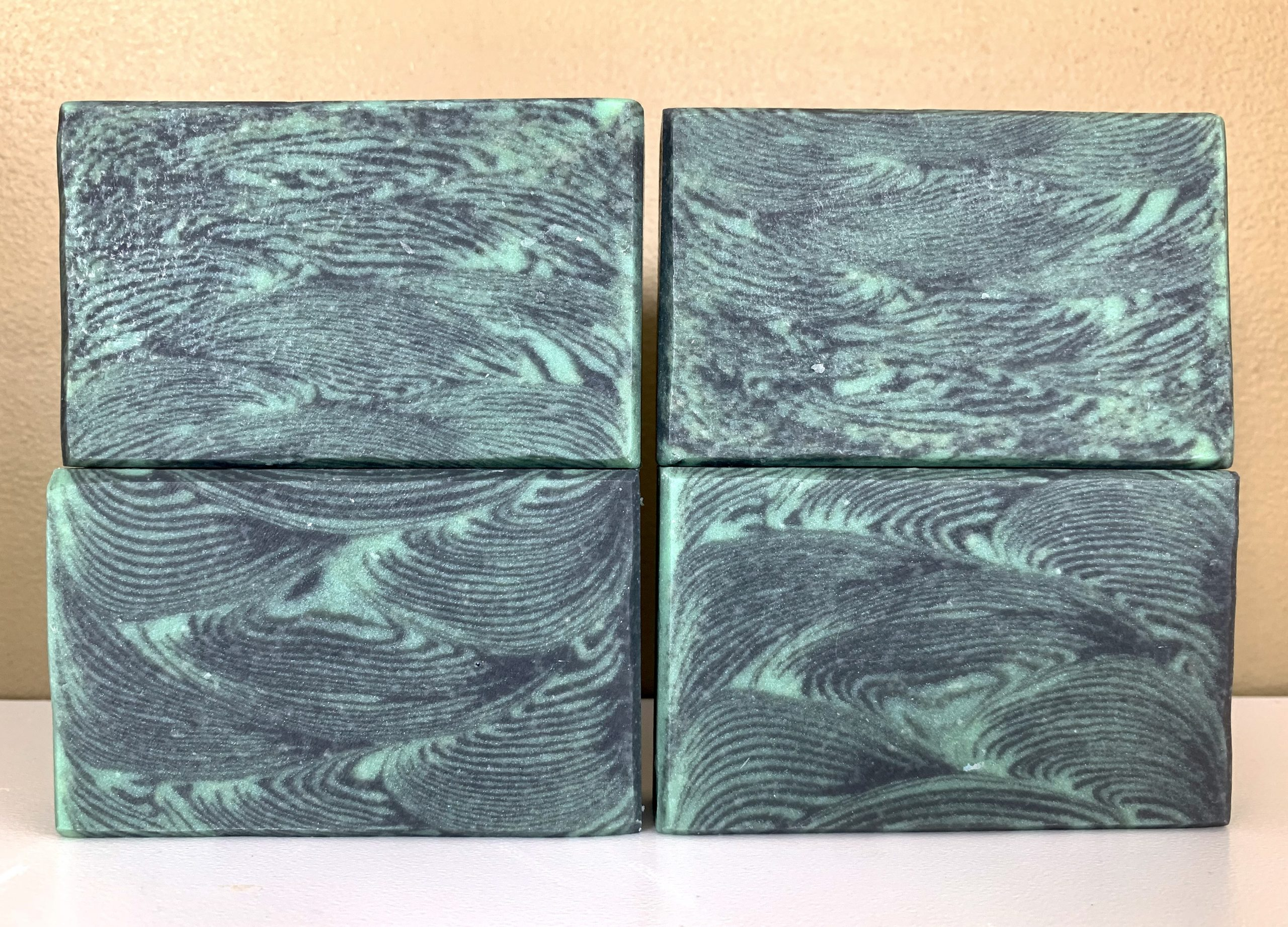 peppermint and charcoal soap