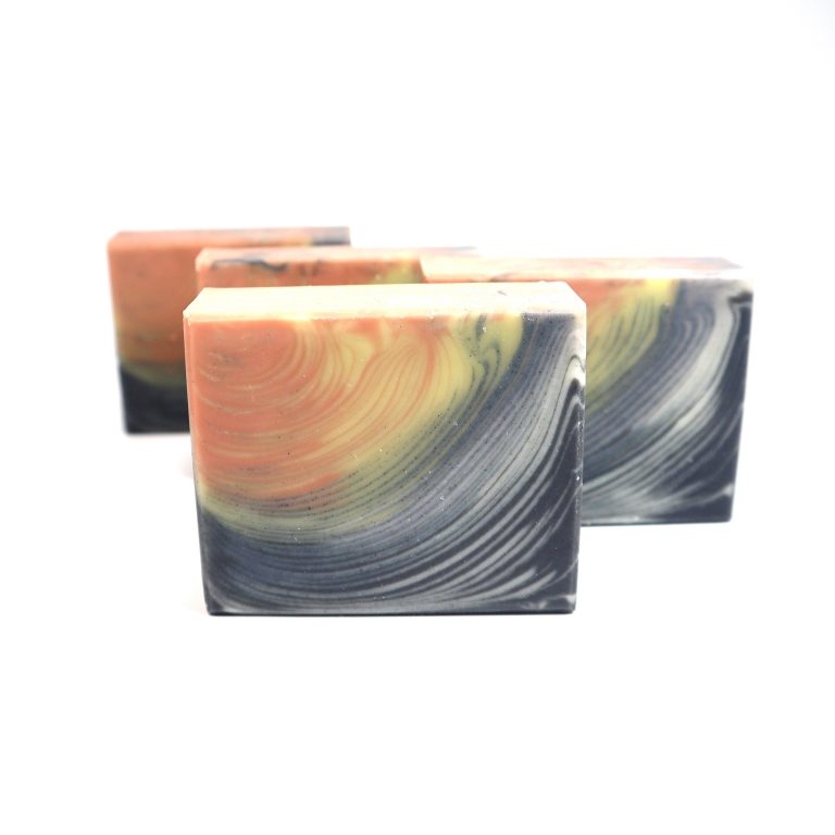 rainbow feather duo butter soap
