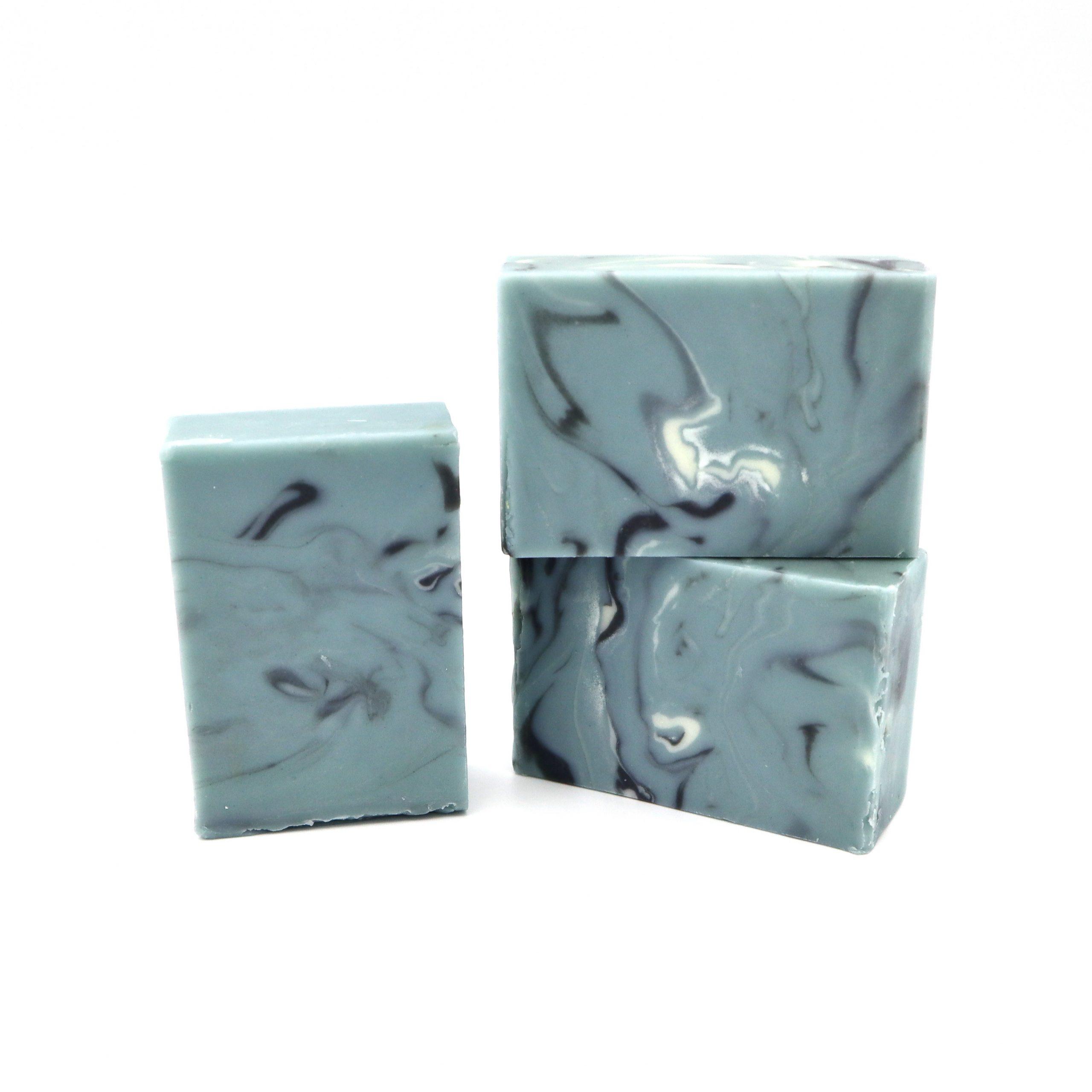 indigo green marble soap