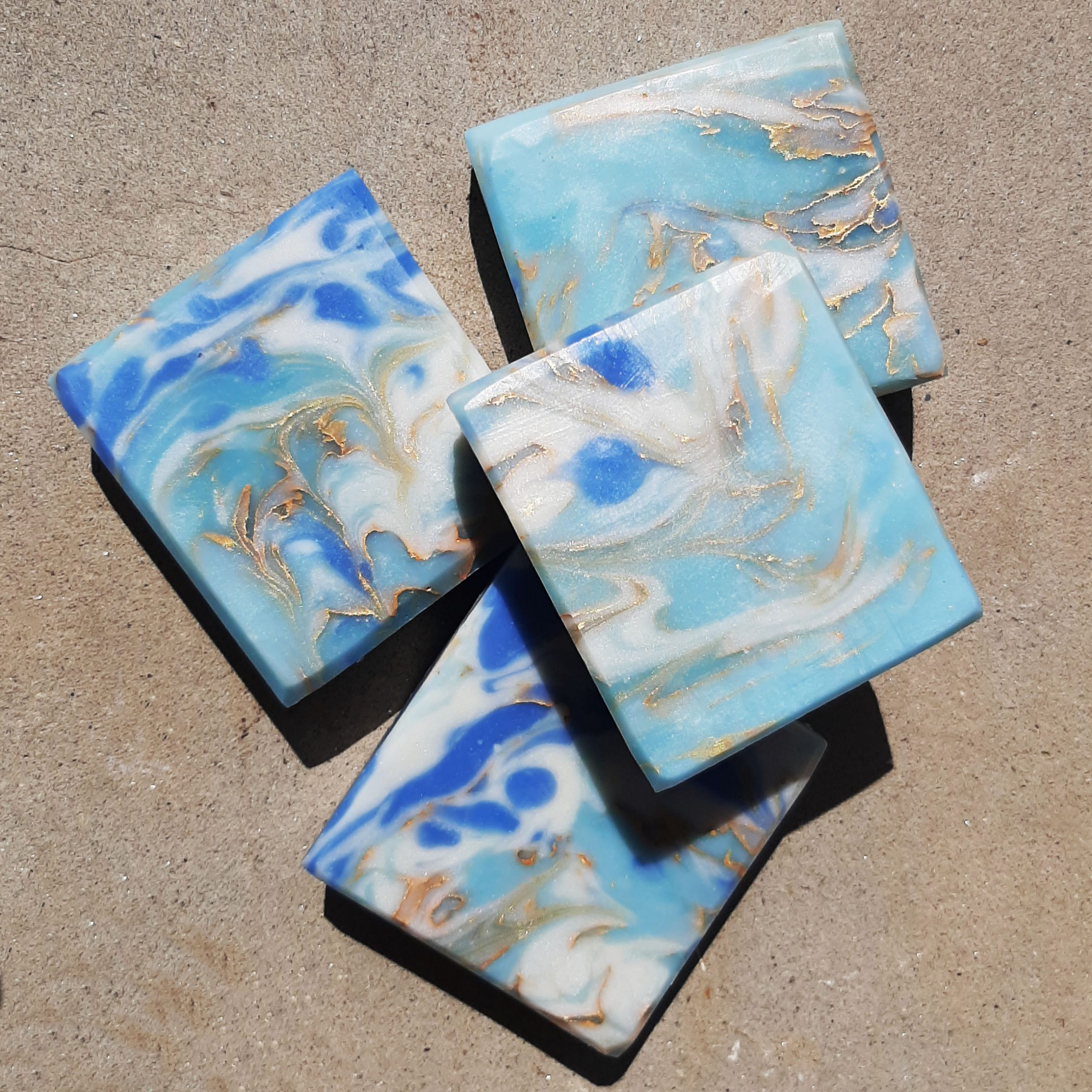 blue onyx marble soap