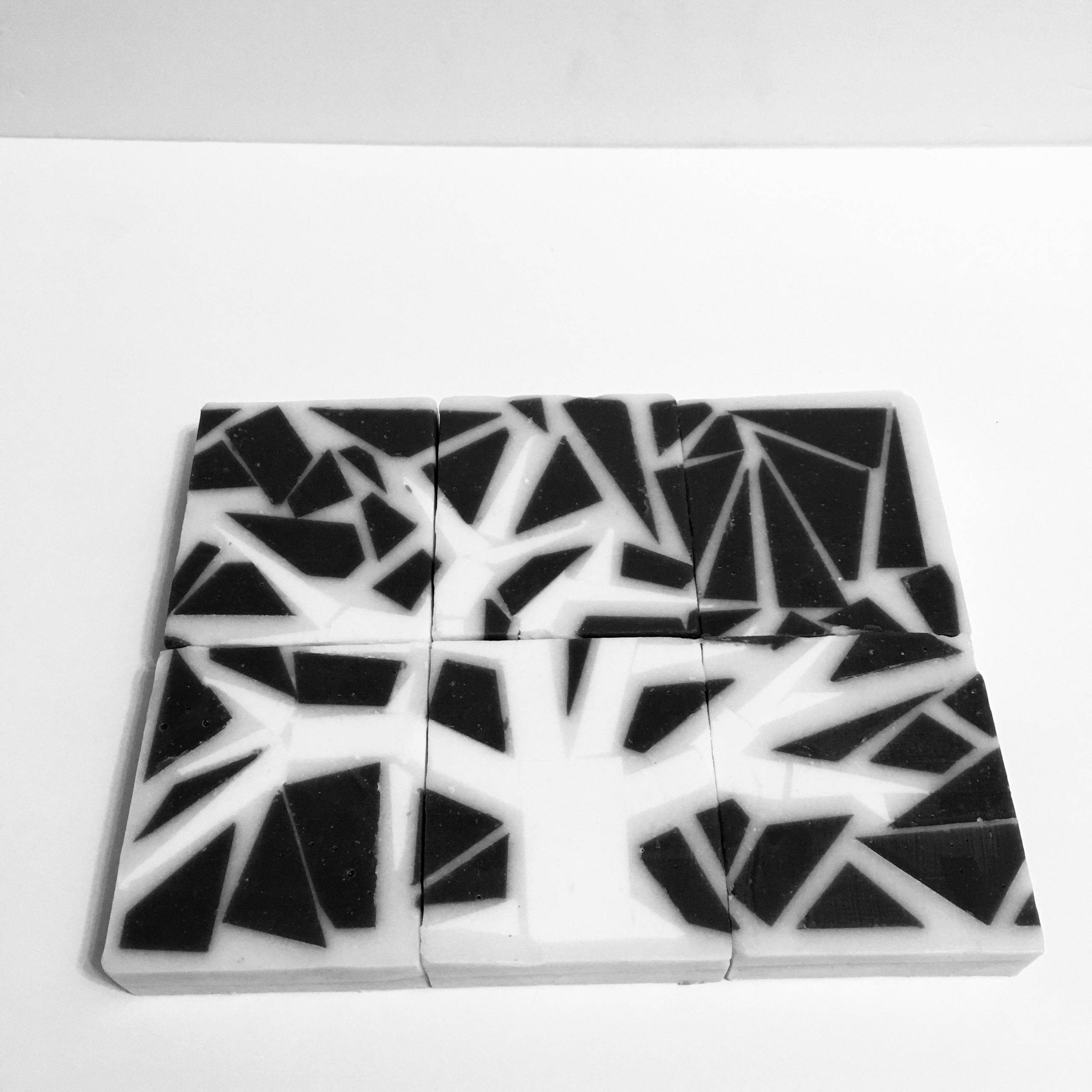 silhouette mosaic soap